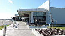 Approach to the passenger terminal, Brisbane West Wellcamp Airport, 2016.jpg