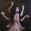 Arachne, Predator and Prey, oil on canvas, Judy Takacs, 2019.jpg