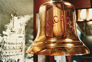SS Arcadia (1953) - SS Arcadias bell