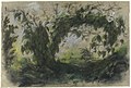 """Arch of Morning Glories, study for """" A Basket of Flowers"""" MET 67.187.4.jpg"""
