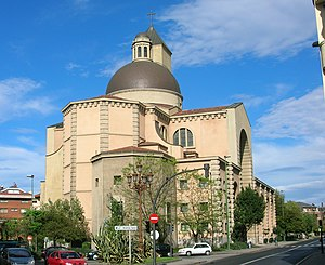 Las Arenas - Our Lady of Mercy Church, 1947, in Las Arenas, Spain.