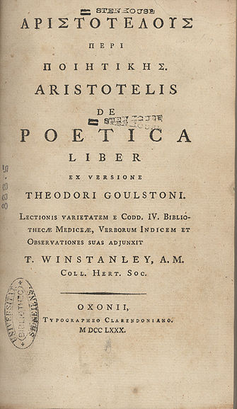 aristotle poetics translated by ingram bywater pdf