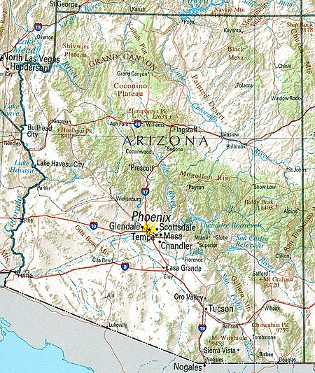 Geography Of Arizona Wikipedia - Southwest us county map