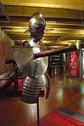 Armour for a jousting tournament Knight including part of a lance 01.JPG