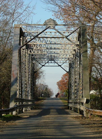 Armstrong, Illinois - Looking north into Armstrong across the Middle Fork of the Vermilion River