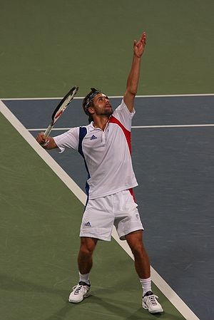 Tennis at the 2008 Summer Olympics - French player Arnaud Clément