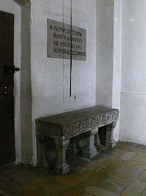 Arnulf, Duke of Bavaria - Gravestone at St. Emmeram's Abbey