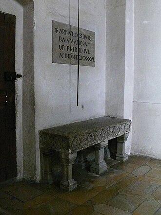 Arnulf, Duke of Bavaria - Gravestone at St. Emmeram's Abbey