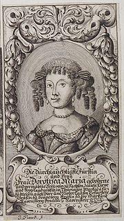 Dorothea Maria of Saxe-Weimar, Duchess of Saxe-Zeitz Duchess consort of Saxe-Zeitz