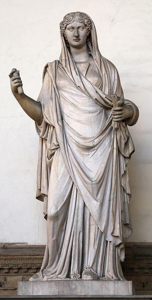 Arte romana, donna togata detta una 'sabina', 110 dc ca., con restauri moderni 04