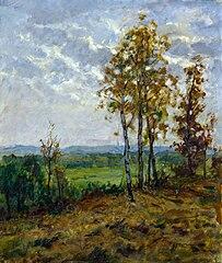 Paesaggio con alberi