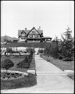 Arthur Letts - Holmby House and gardens, Los Feliz district (ca. 1905).
