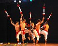 Artists performing regional traditional dance at the inaugural ceremony of the 40th International Film Festival (IFFI-2009), at Kala Academy, in Panaji, Goa on November 23, 2009 (1).jpg