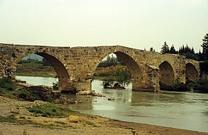 Eurymedon Bridge (Aspendos) - The Seljuq-era bridge, seen from the southwest