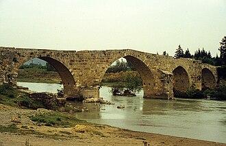 Eurymedon Bridge (Aspendos) - The Seljuq-era bridge, seen from the southwest