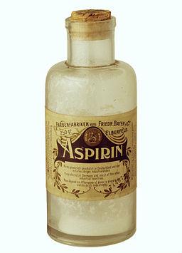 Aspirin-Fläschchen