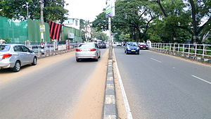 Asramam Link Road - View of Asramam Link Road towards Kadappakada side