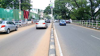 Asramam Link Road - View of Asramam Link Road towards Kadappakada side