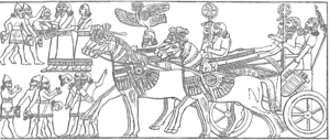 Middle Assyrian Empire - Assyrian troops return after victory.