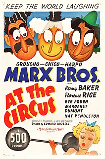 <i>At the Circus</i> 1939 Marx Brothers film by Edward Buzzell