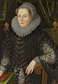 Attributed to John Bettes the Younger Portrait of Joan Stint, Mrs George Evelyn (1550-1613).jpg