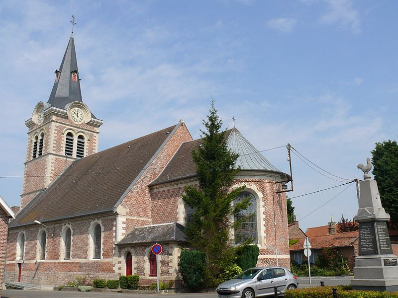 Saint-Amand's church of Aubigny-au-Bac (Nord, France).