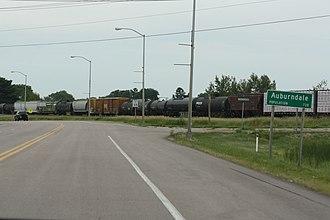Auburndale, Wisconsin - Image: Auburndale Wisconsin Sign Looking East US10