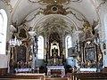 Auffach, Kath. Pfarrkirche hl. Nepomuk, Altarraum.JPG