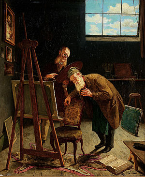 August Jernberg - Image: August Jernberg Interiör från ateljé