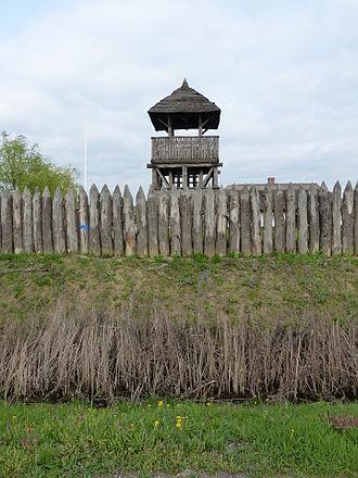 Scythians - Scythian defence line 339 BC reconstruction in Polgár, Hungary