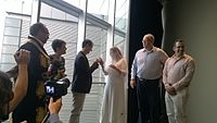 Avner and Darya's wiki Wedding at Wikimania by ovedc 09.jpg
