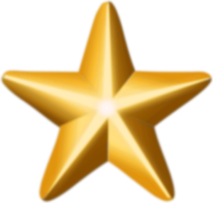 Walter E. Carter Jr. - Image: Award star (gold)