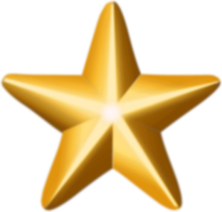 Award star (gold)