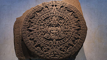 Aztec calendar stone in National Museum of Anthropology, Mexico City.jpg
