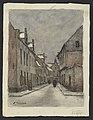 Béguinage à Louvain (sous la neige) 1923 drawing by Jean-François Taelemans, R-2009-26373, Prints Department, Royal Library of Belgium.jpg