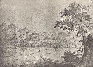 Emanuel Büchel - A drawing by Büchel (1763).