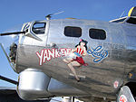 The nose art on the B-17 Flying Fortress Yankee Lady from the w:Yankee Air Museum, on display at the 2008 Cleveland National Air Show.