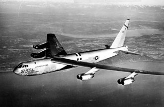 New Look (policy) - A B-52 long-range bomber. The first models were deployed just as the New Look took shape.