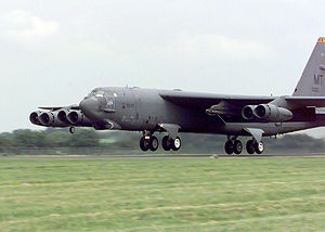 5th Operations Group - Boeing B-52H-145-BW Stratofortress 60-0033, from the 5th Operations Group takes-off homeward bound after a deployment to RAF Fairford, England.