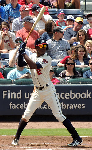 Melvin Upton Jr. - Upton Jr. with the Atlanta Braves in 2013