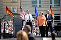 B. Obama, A. Merkel and K. Wowereit at the Brandenburg Gate 2013.jpg