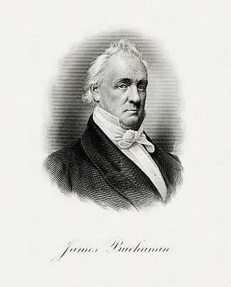 BEP engraved portrait of Buchanan as President