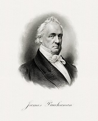 Presidency of James Buchanan - Image: BUCHANAN, James President (BEP engraved portrait)
