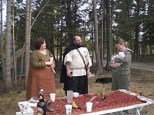 Heathenry in Canada - Heathen Freehold Society of BC conducting a baby naming ritual at Midsummer.