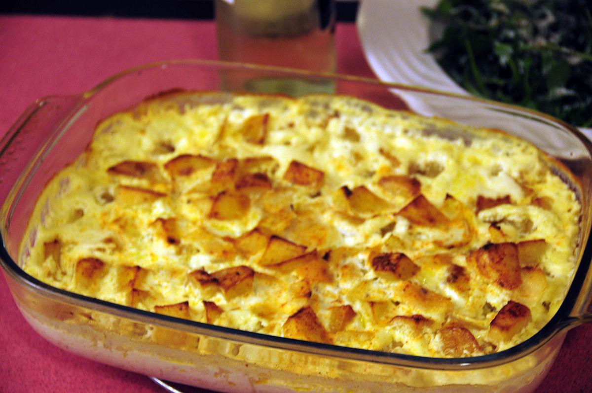 Bacalhau com natas wikipedia for Authentic portuguese cuisine