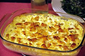 Bacalhau com natas - Cod with cream (bacalhau com natas)