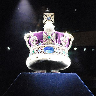 Imperial State Crown - Image: Back of the Imperial State Crown