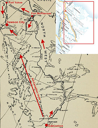 Klondike gold rush wikipedia map of backdoor route sciox Image collections