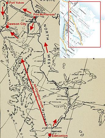 Klondike Gold Rush Wikipedia - Yukon river map