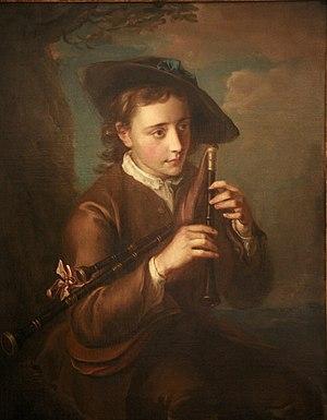 Philippe Mercier - Bagpipe player, Musée des Beaux-Arts de Strasbourg
